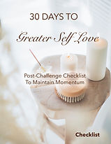 30 Days To Greater Self Love - Checklist