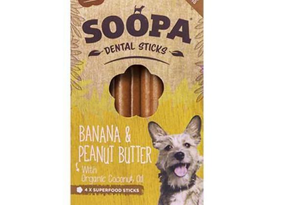 Banana & Peanut Butter Dental Sticks