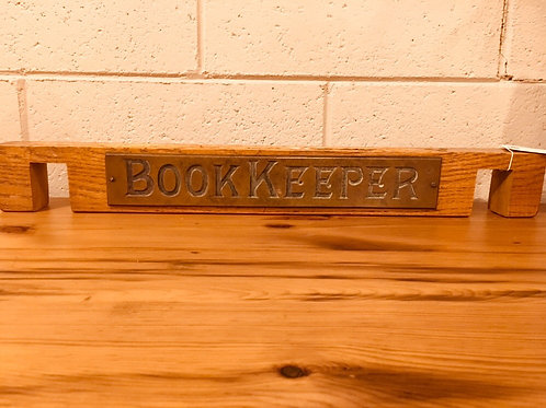 """BookKeeper"" Nameplate and Pen Stand"