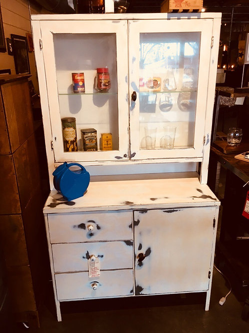 Metal Sideboard wit Glass Cabinet