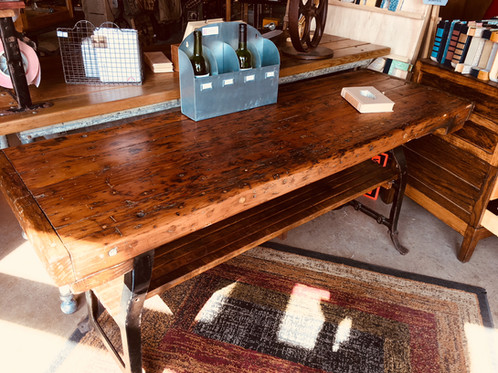 This Warm, Honey Colored Harvest Table Tells A Story Of Active Homes In Its  Worn Tabletop. It Would Be The Perfect Addition To A Kitchen Or Dining Room  As ...