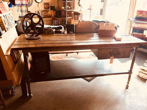 A.L Kiefer Work Table with Drawer
