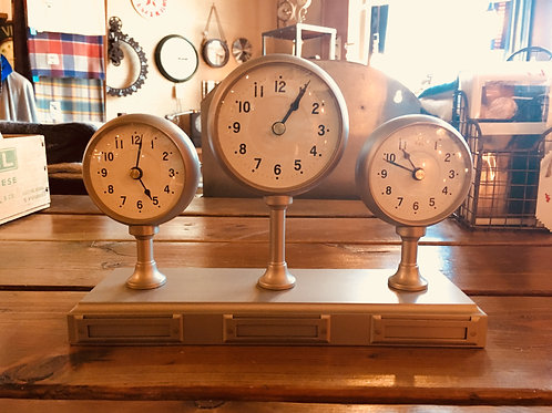 Three-Face Mantel Clock