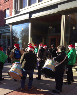 Drummers during the Victorian Stroll