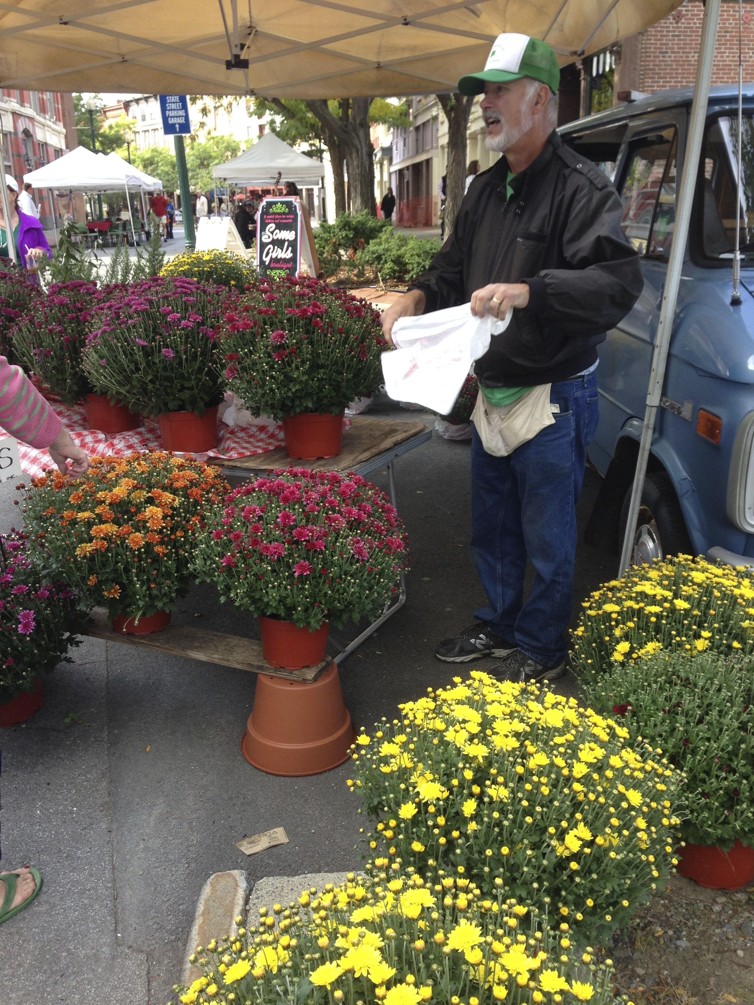 Flower vendor at the market