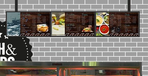 3 Screen Digital display system