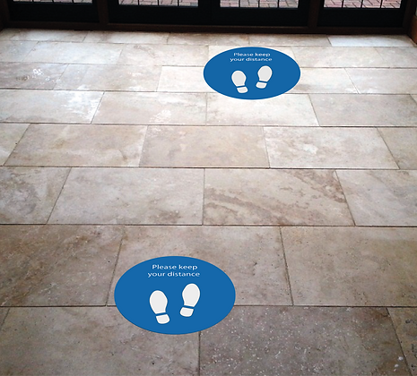 300mm Circle floor sticker x 5 with your design