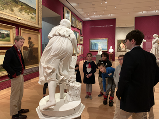 Upper School Student Docents and Class 3