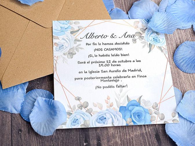 tarjetas de boda diferentes