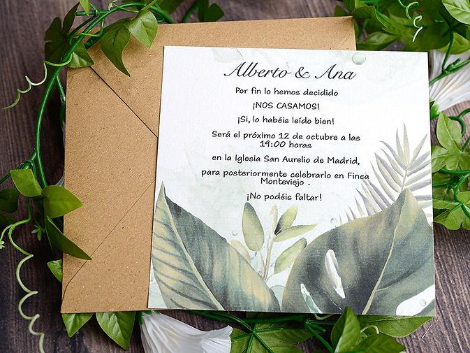 invitaciones de boda canarias