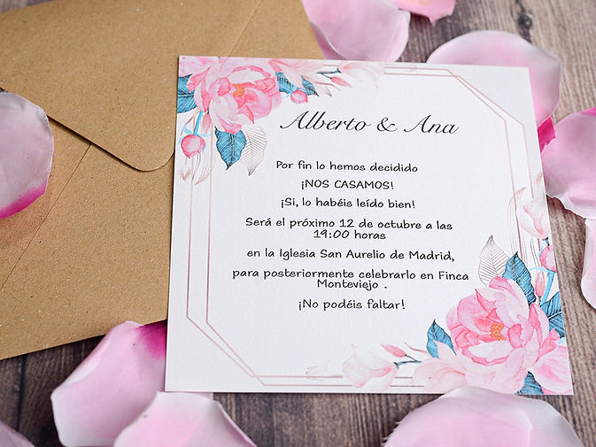 invitaciones de boda tenerife