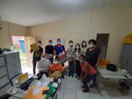 Casa de Acolhimento recebe doação de alimentos Santuário da Mãe Rainha Olinda