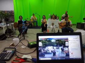 Bastidores da live da Banda Capital de Graças