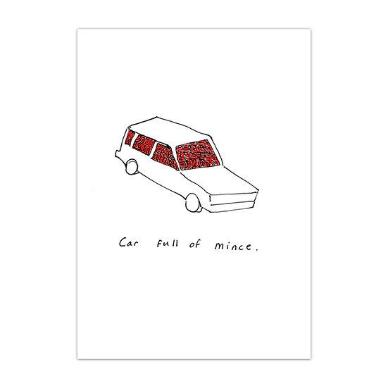 David Sherry / Car Full of Mince / Screenprint