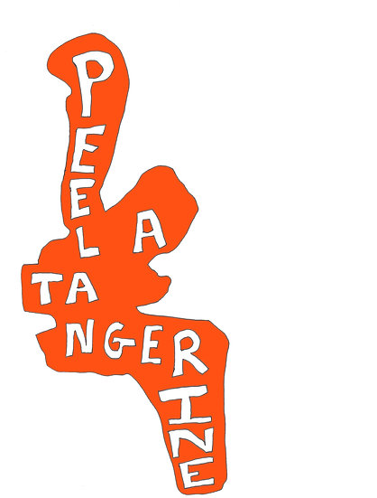 David Sherry / Peel a Tangerine / Screenprint