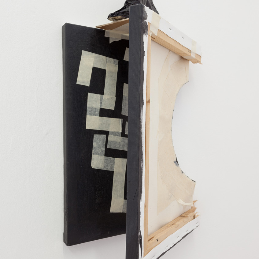 David Sherry, Snapped painting with a crumpled hat, 2013