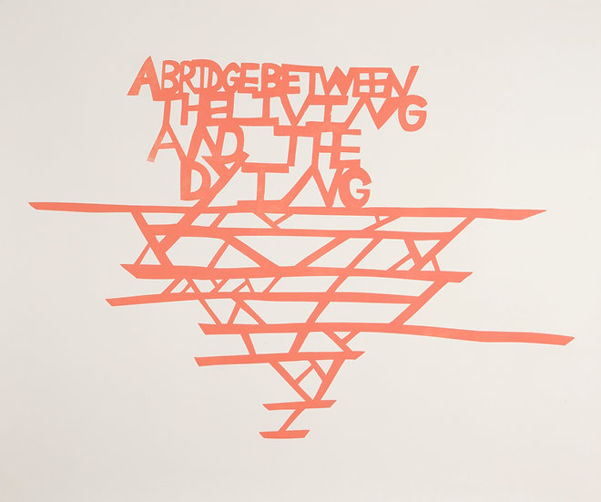 Ilana Halperin / A Bridge Between the Living and the Dying / Woodblock Print