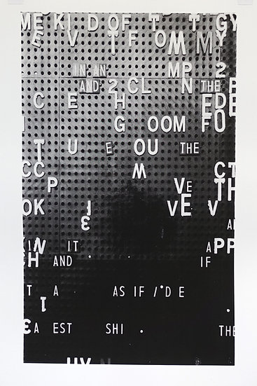 Jane Topping / In an and / Screen Print