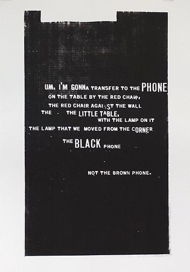 Jane Topping / The BLACK Phone / Screen Print