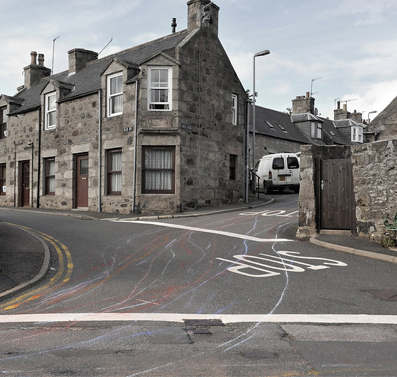 Jacqueline Donachie / Huntly Slow Down (Old Road) / Digital Print