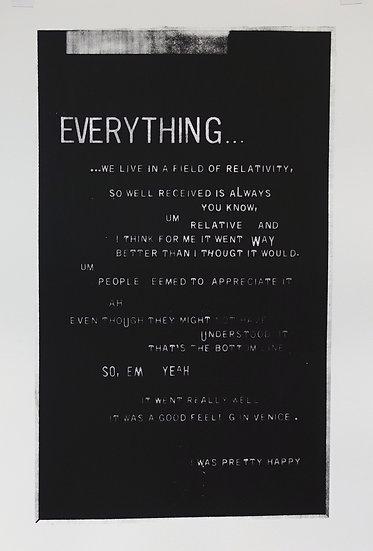 Jane Topping / Everything… / Screen Print