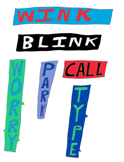 David Sherry / Blink Call Type / Digital Print