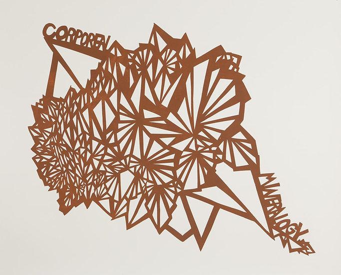 Ilana Halperin / Corporeal Mineralogy / Woodblock Print