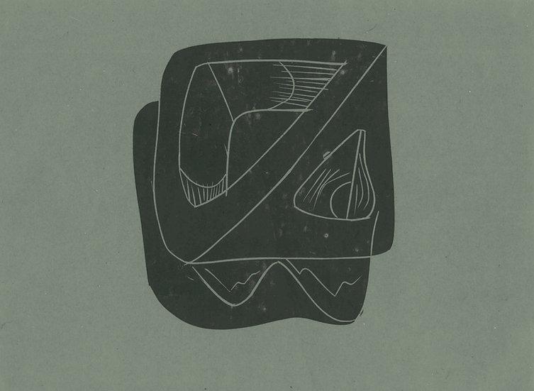 Tessa Lynch / Yoghurt, found in the field of misogyny / Lino Print