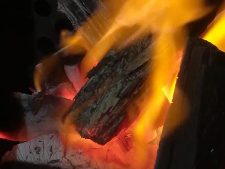 今年最後の炭火