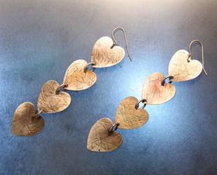 Four Hearts Earrings - Bessy Berman