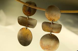 circle-bar-circle earrings - Bessy Berman