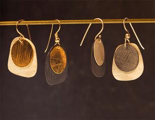 circle in square earrings - Bessy Berman