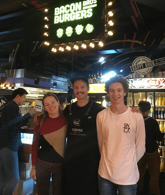Past winners of the build a burger challenge