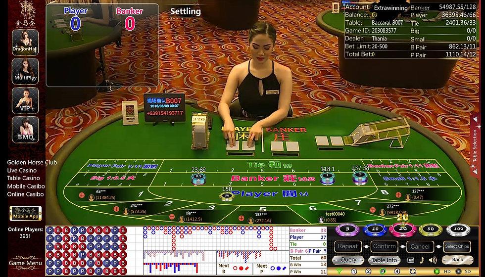 golden horse club, live casino, table ca