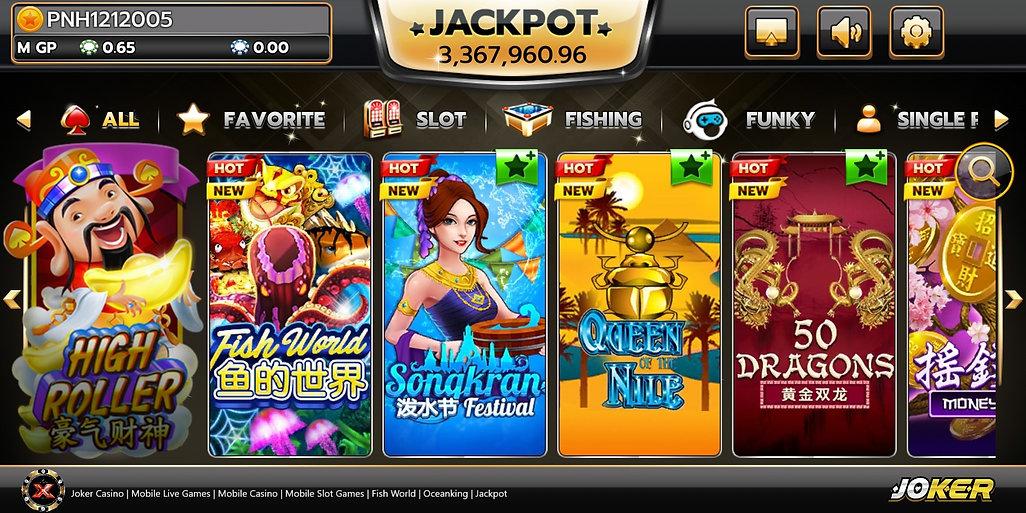 joker casino, mobile live games, mobile