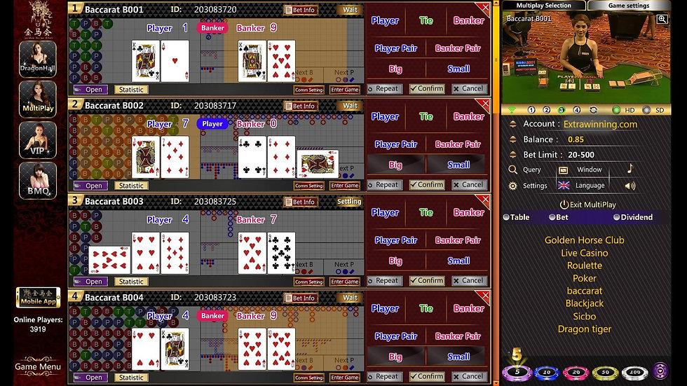 golden horse club, live casino, roulette