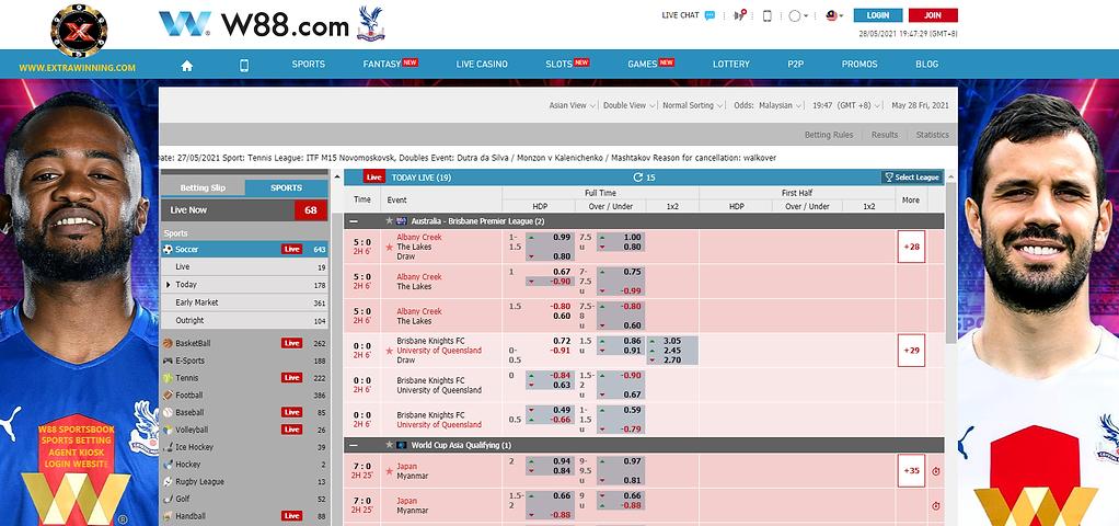 w88 sports betting sportsbook agent kiosk login website