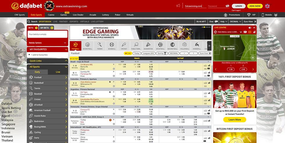 dafabet sports betting, live bet, agent, malaysia, singapore, indonesia, brunei, vietnam, thailand