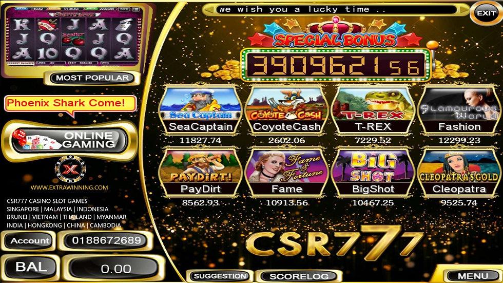 csr777 casino slot games, singapore, malaysia, indonesia, brunei, vietnam, thailand, myanmar, india