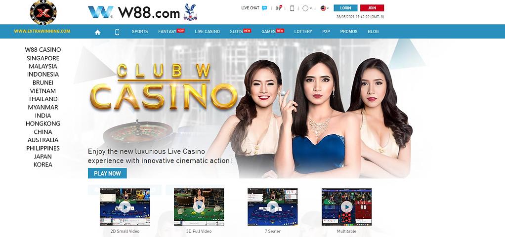 w88 live casino singapore malaysia indonesia brunei vietnam thailand myanmar india hongkong china