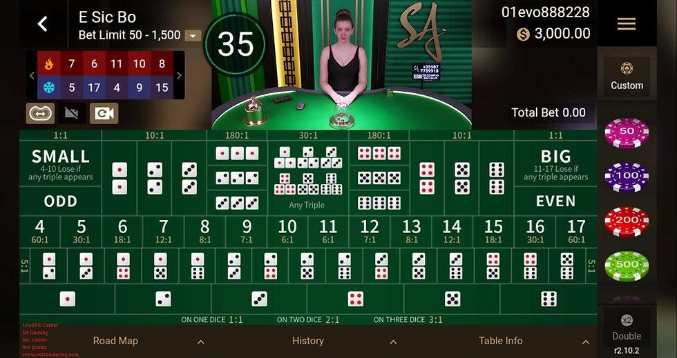 evo888 casino live casino live games sagaming extrawinning