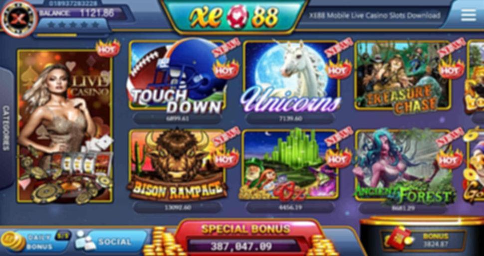 xe88 mobile slot games live casino agent