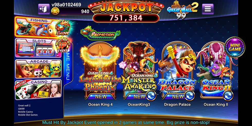 great wall 2, gw99, mobile casino, mobil