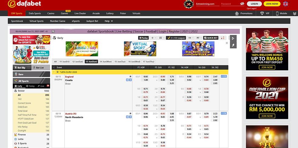 dafabet sportsbook, live betting, soccer, football, login, register, 2021, 2022