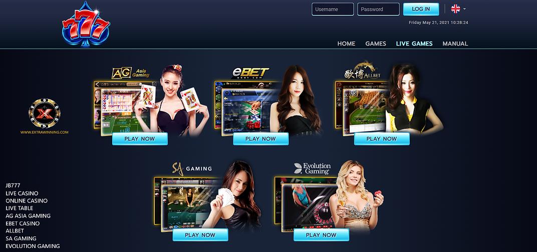 jb777 live casino online casino live table