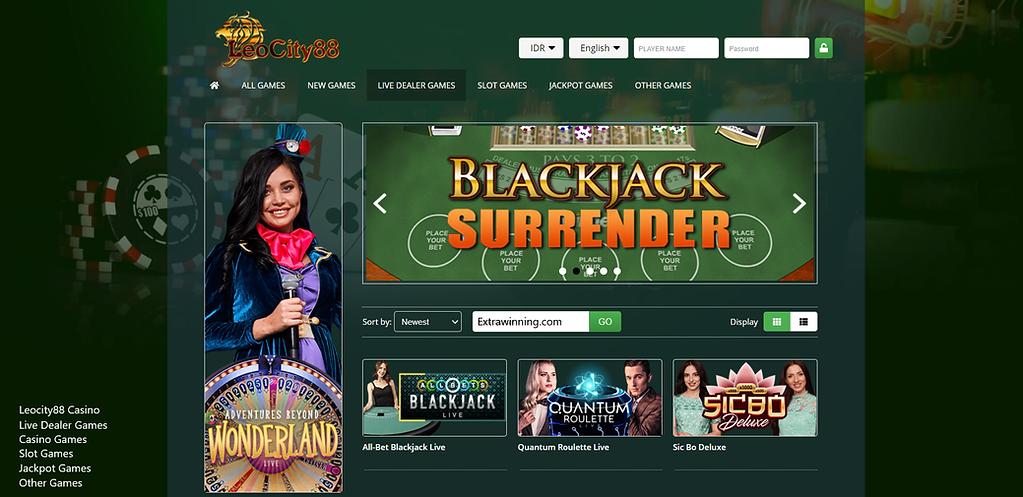 leocity88, live dealer games, casino gam