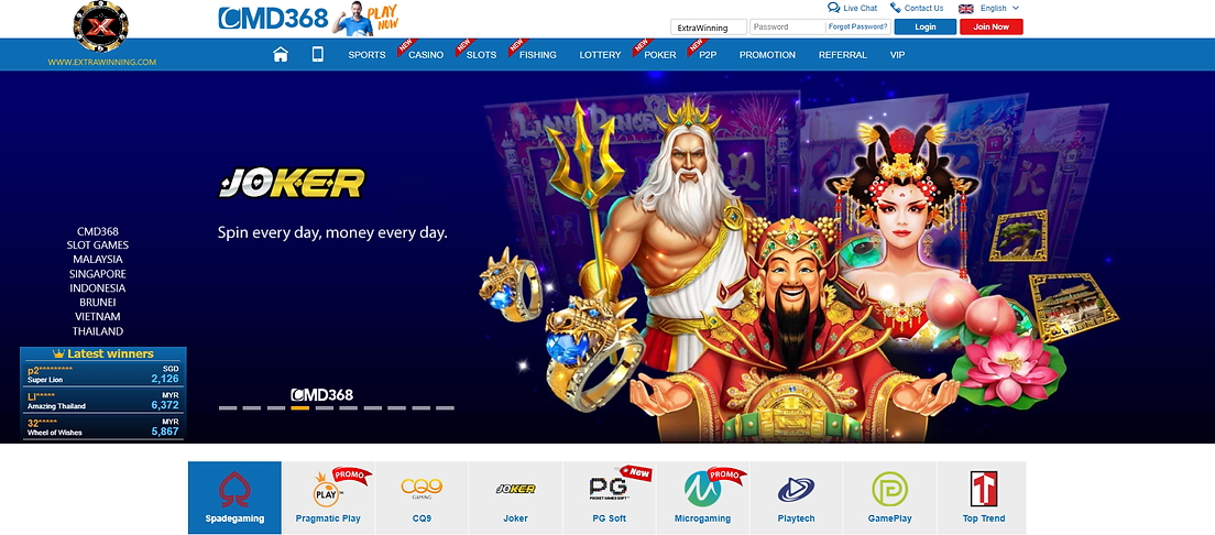 cmd368 slot games, malaysia, singapore, indonesia, brunei, vietnam, thailand