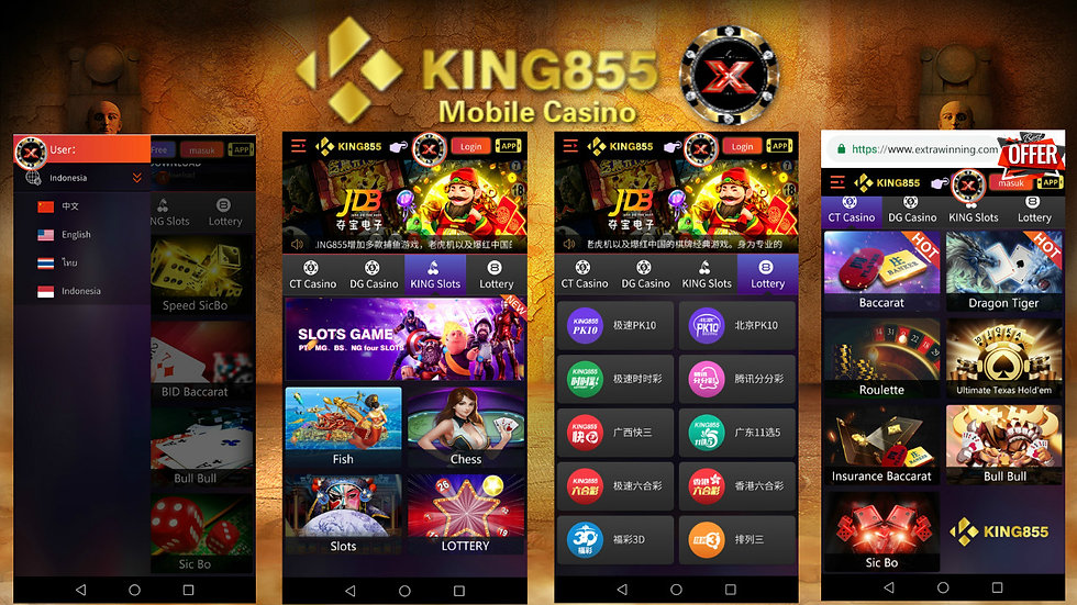 king855 online mobile casino slots malay
