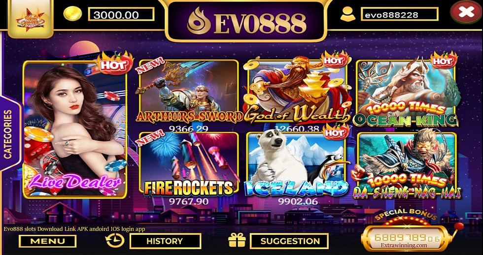 evo888 slots download link apk android ios login app