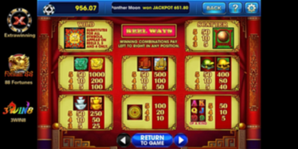 3win8 mobile slot games 88 fortunes down
